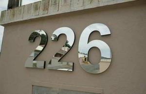 Números e Letras Em Aço Inóx pra Casa e Loja Promoção