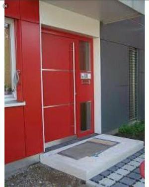 Porta de Alumínio Vermelho