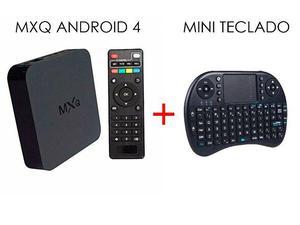 Tv Box Mxq Smart Android com Mini Teclado Sem Fio Completo