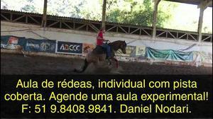 Aula de equitação, Rédeas, em Porto Alegre