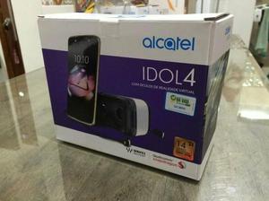 Celular Alcatel IDOL4 com óculos de realidade virtual