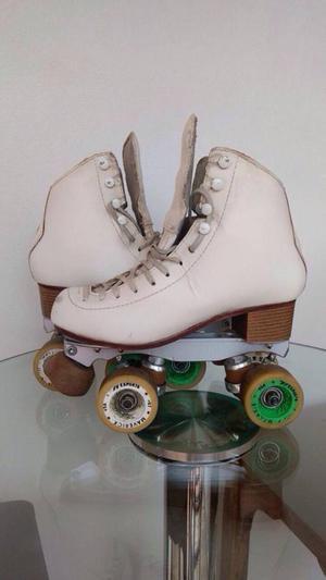 patins semi-prof. rye + bolsa + conjunto rodas originais