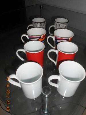 8 Canecas de Porcelana lindas - Para seu café da Manha