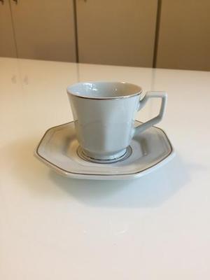 Conjunto de 6 peças de xícaras de café de porcelana