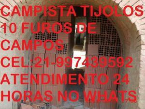 Tijolos de Campos Promoção até Hoje carga fechada 530.00