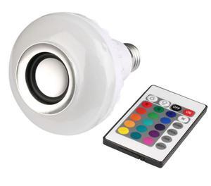 Lampada Led MP3 Rgb Com Caixa Som Bluetooth 2 Em 1