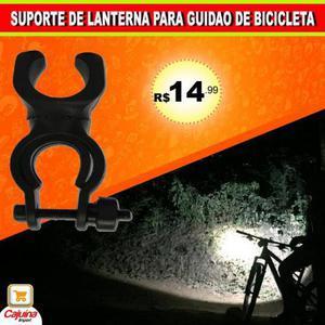 Suporte De Lanterna Para Guidão Bicicleta