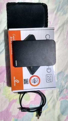 E para vendo logo preço bom HD externo 500 GB semi novo com