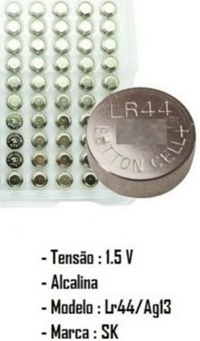 Cartela Com 50 Peças Bateria Alcalina LR44 ou AG13 No
