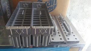 Kit forma de picolé 22 furos modelo jaja marca aço frio