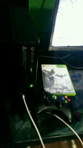 V ou T em cel bom, meu Xbox 360 super slim, com jogo