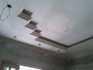 Decorações e rebaixamento de teto em gesso