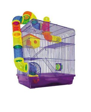 Gaiola Hamster Labirinto 3 Andares Roxo