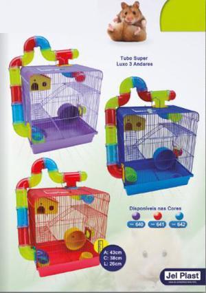 Gaiola Para Hamster Tubo 3 Andares