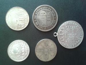 Lote de 5 moedas raras