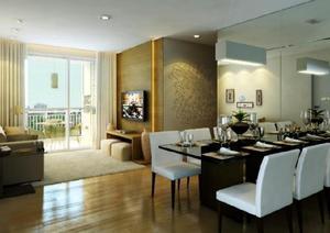 Apartamento Ecoville, 2 dormitórios, 2 banheiros, 1