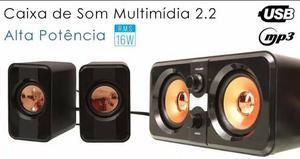 Caixa De Som 2.1 Subwoofer Amplificada Notbook Celular Fnt
