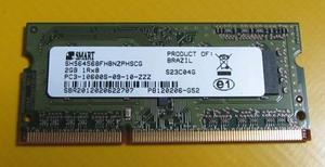 Memória Ram DDR3 2GB Notebook