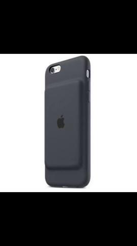 Smart battery case iPhone 6 e 6s preta. Capa carregadora