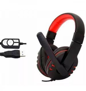 Fone Ouvido Headset Gamer Jwcom C/ Microfone Usb Pc Ps3 Ps4