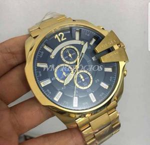 Relógio Diesel 10bar - Dourado com azul