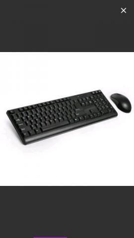 Teclado e mouse sem fio Multilaser novos, sem uso
