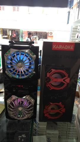 Caixa de som portable speaker karaoke