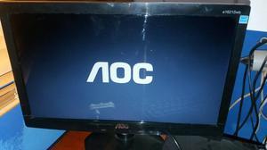 Monitor de led LCD da aoc completo. zerado
