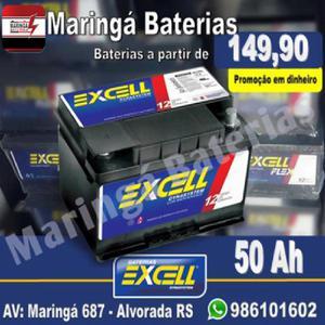 Baterias excell á partir de *149,90 na troca *Promoção em