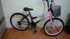 Bicicleta aro 24 com 18 marchas folha aero cubo roletado