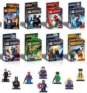 Kit C/ 8 Bonecos Similar Aos Lego Na Caixa Bloco De Montar
