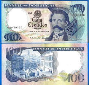 Portugal - Cédula 100 Escudos  FE Flor de Estampa -
