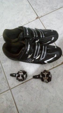 Sapatilha tsw + pedal clip shimano pd-m 505