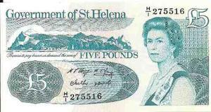St.Helena - Santa Helena Cédula Rainha £5 FE Flor de