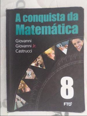 A conquista da matemática 8º ano em bom estado