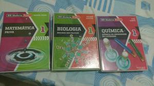 Livro moderna plus de Química, Biologia e Matemática-