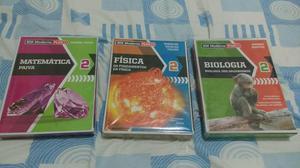 Livros da moderna Plus (Matemática, Física e Biologia)