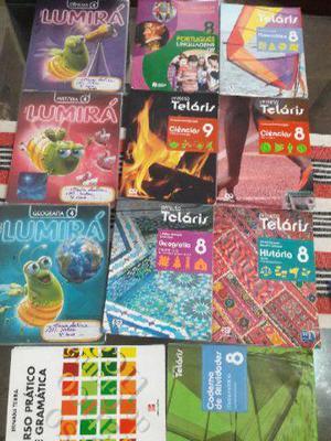 Livros escolares do 8 ano e 4 ano