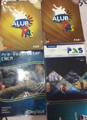 Livros pré vestibular ENEM E PAS