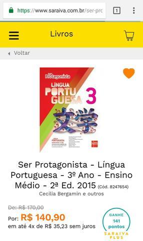Ser Protagonista Língua Portuguesa 3 Ensino Médio