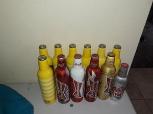 Lote de garrafas de alumínio para coleção