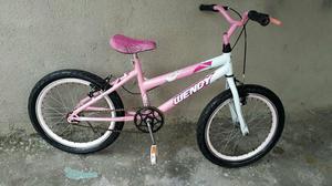 Bicicleta aro 20 Wendy menina semi nova