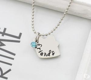 Cordão Colar Frase Best Friends Forever 3 Partes Palavras