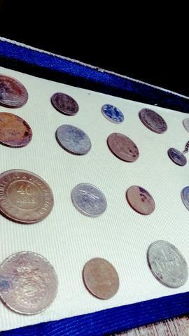 Lote com 20 moedas antigas