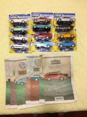 Miniaturas carros clássicos Nacionais 1ª Edição completa