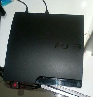 PS3 Slim com 1 manete + volante + 7 jogos