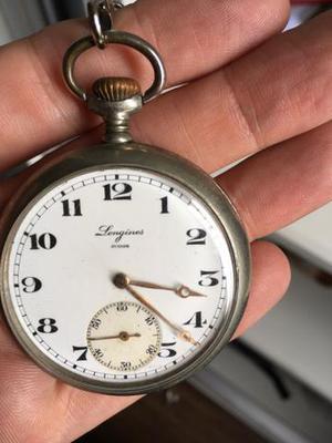 85bfc77d610 Relógio de bolso longines relíquia funcionando!