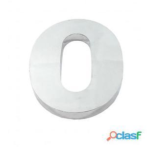 Algarismo ou Número 0 (Zero) para Residência 12cm em Inox