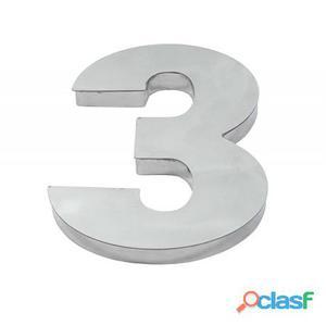 Algarismo ou Número 3 (Três) para Residência 12cm em Inox