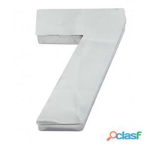 Algarismo ou Número 7 (Sete) para Residência 12cm em Inox